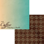 Moxxie - Perfect Blend Collection - 12 x 12 Double Sided Paper - Coffee