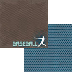 Moxxie - Play Ball Collection - 12 x 12 Double Sided Paper - Baseball