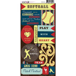 Moxxie - Play Ball Collection - Cardstock Stickers - Softball