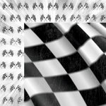 Moxxie - Racing Collection - 12 x 12 Double Sided Paper - Finish Line