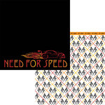 Moxxie - Racing Collection - 12 x 12 Double Sided Paper - Speed