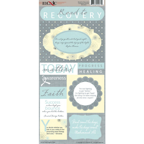 Moxxie - Road to Recovery Collection - Cardstock Stickers - Elements