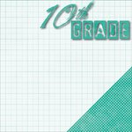 Moxxie - School Days Collection - 12 x 12 Double Sided Paper - Tenth Grade