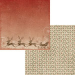 Moxxie - Season's Greetings Collection - Christmas - 12 x 12 Double Sided Paper - Dash Away All