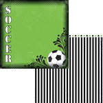 Moxxie - Soccer Collection - 12 x 12 Double Sided Paper - Goal