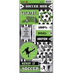 Moxxie - Soccer Collection - Cardstock Stickers