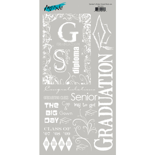 Moxxie - Senior Year Collection - Rub Ons - Graduation
