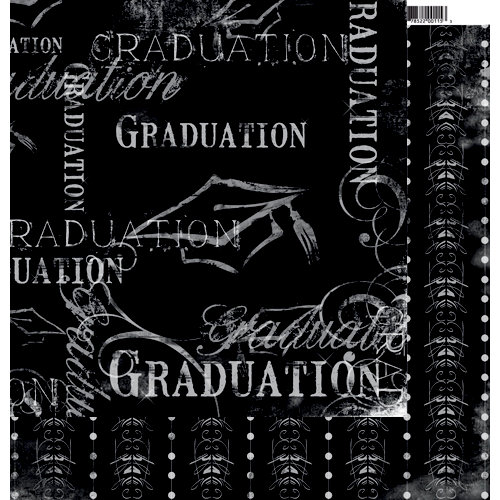 Moxxie - Senior Year Collection - 12 x 12 Double Sided Paper - Hats Off