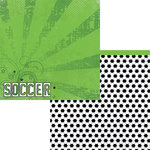 Moxxie - Soccer Star Collection - 12 x 12 Double Sided Paper - Soccer
