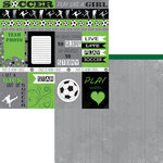 Moxxie - Soccer Star Collection - 12 x 12 Double Sided Paper - Soccer Cutouts