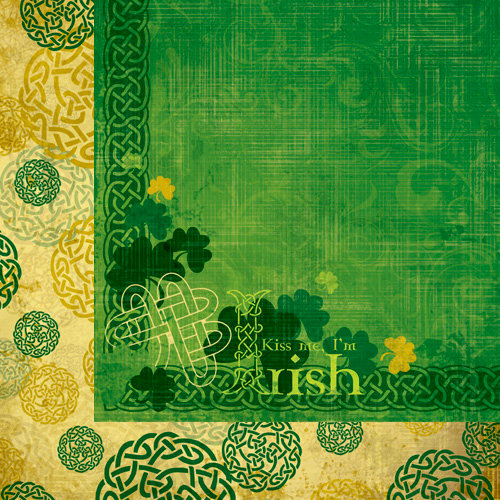 Moxxie - St. Patrick's Day Collection - 12 x 12 Double Sided Paper - Kiss Me I'm Irish
