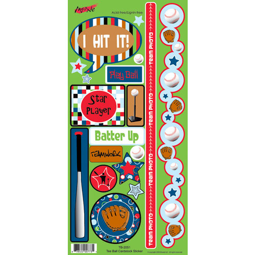 Moxxie - Tee Ball Collection - Cardstock Stickers - Elements