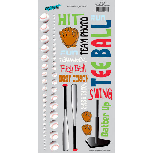 Moxxie - Tee Ball Collection - Rub Ons