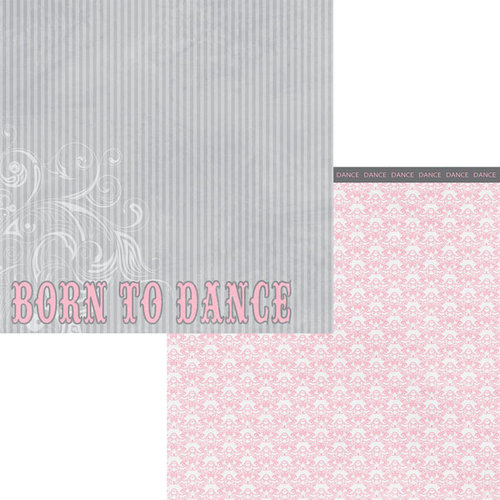 Moxxie - Tiny Dancer Collection - 12 x 12 Double Sided Paper - Born to Dance