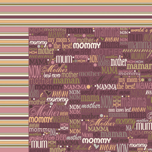 Moxxie - VIP Collection - 12 x 12 Double Sided Paper - Mother