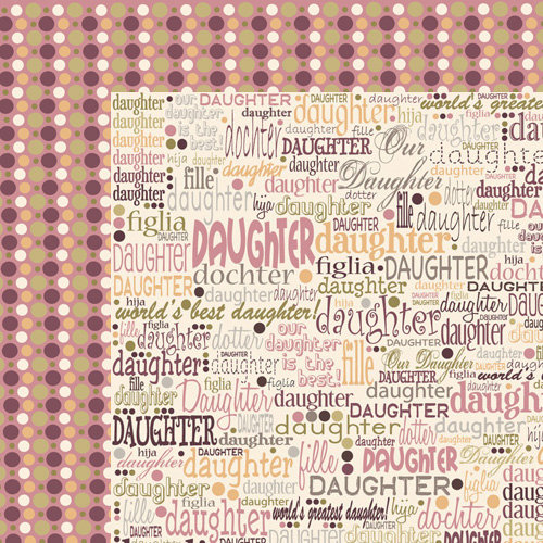 Moxxie - VIP Collection - 12 x 12 Double Sided Paper - Daughter