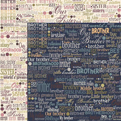 Moxxie - VIP Collection - 12 x 12 Double Sided Paper - Brother Sister