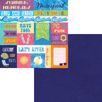 Moxxie - Waterpark Collection - 12 x 12 Double Sided Paper - Waterpark Cutout