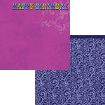 Moxxie - Whoos Birthday Collection - 12 x 12 Double Sided Paper - Happy Birthday