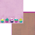 Moxxie - Whoos Birthday Collection - 12 x 12 Double Sided Paper - Sweet Treat