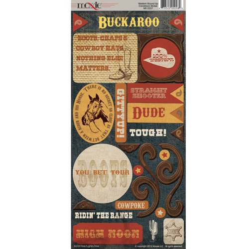Western Round-Up Collection - Cardstock Stickers - Elements by Moxxie