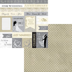Moxxie - Wedded Bliss Collection - 12 x 12 Double Sided Paper - Wedding Cutout