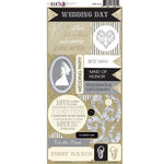 Moxxie - Wedded Bliss Collection - Cardstock Stickers