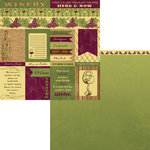 Moxxie - Winery Collection - 12 x 12 Double Sided Paper - Winery Cutouts