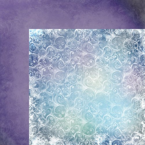 Moxxie - Winterland Collection - 12 x 12 Double Sided Paper - Below Zero