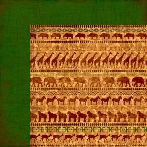 Moxxie - Zoofari Collection - 12 x 12 Double Sided Paper - Out of Africa