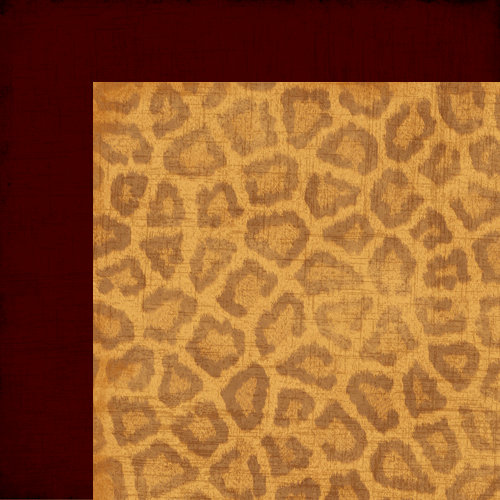 Moxxie - Zoofari Collection - 12 x 12 Double Sided Paper - Big Kitty