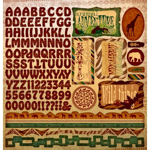 Moxxie - Zoofari Collection - 12 x 12 Cardstock Stickers - Combination