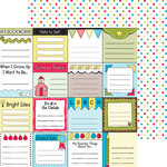 Nikki Sivils - School is Cool Collection - 12 x 12 Double Sided Paper - Cool Tags