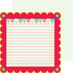 Nikki Sivils - School is Cool Collection - 12 x 12 Double Sided Paper - Hooray for School