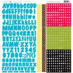 Nikki Sivils - School is Cool Collection - 12 x 12 Cardstock Stickers - Blue Alphabet