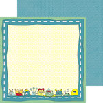 Nikki Sivils - My Lil' Monster Collection - 12 x 12 Double Sided Paper - Meet-a-Monster