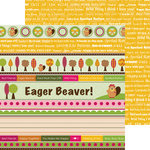 Nikki Sivils - Beatrice Collection - 12 x 12 Double Sided Paper - Beatrice Border Strips