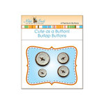 Nikki Sivils - Cute as a Button - Burlap Buttons - Brown