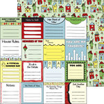 Nikki Sivils - We Are Family Collection - 12 x 12 Double Sided Paper - Our Neighborhood