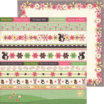 Nikki Sivils - Max and Mollie Collection - 12 x 12 Double Sided Paper - Mollie's Flowers