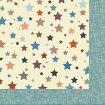 Nikki Sivils - Noah Collection - 12 x 12 Double Sided Paper - Noah's Stars