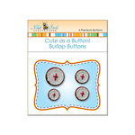 Nikki Sivils - Cute as a Button - Burlap Buttons - Red