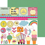 Nikki Sivils - Summer Collection - 12 x 12 Double Sided Paper - Summer Cut Ups