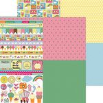 Nikki Sivils - Summer Collection - 12 x 12 Double Sided Paper - Summer Minis