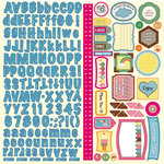 Nikki Sivils - Summer Collection - 12 x 12 Cardstock Stickers - Summer