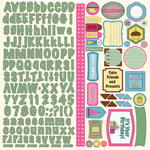 Nikki Sivils - Its Your Day Collection - 12 x 12 Cardstock Stickers - It's Your Day