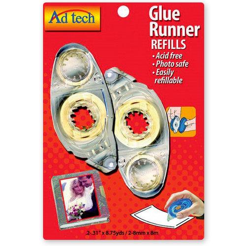 Adhesive Technologies - Glue Runner Refill - Permanent Bond - 8.75 yards - 2 Pack