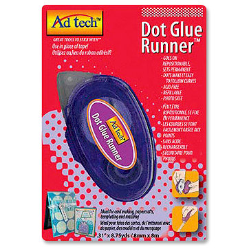 Adhesive Technologies - Dot Glue Runner - Repositionable - 8.75 yards