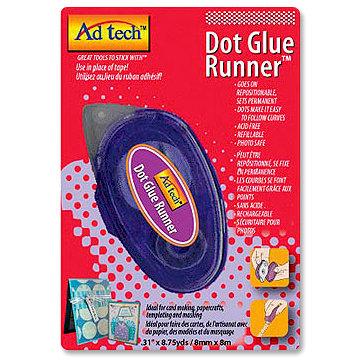 Adhesive Technologies - Dot Glue Runner - Repositionable - 8.75 yards