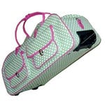 CGull - Provo Craft - Cricut Expression - Canvas Rolling Tote - Green and White Polka Dot